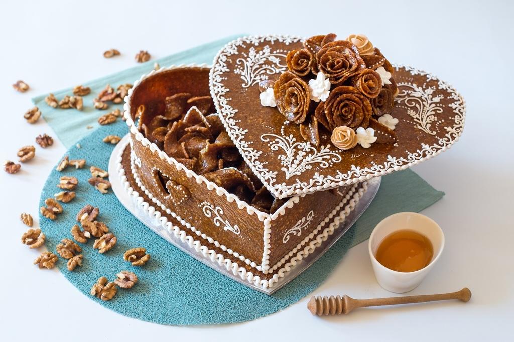 Égetett cukor doboz és darabok