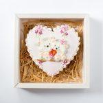 Gyerekmintás mézeskalács szív dobozban