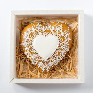 Mézeskalács szív formában